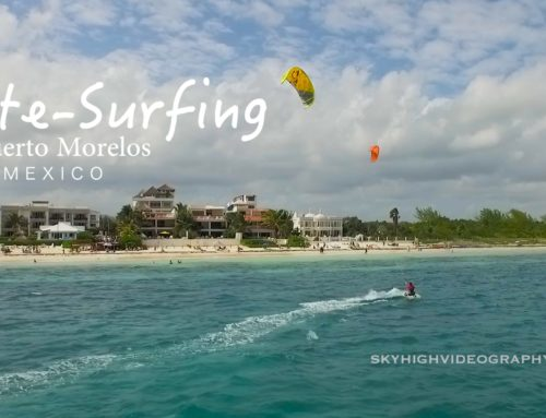 Kite-Surfing in Puerto Morelos Mexico