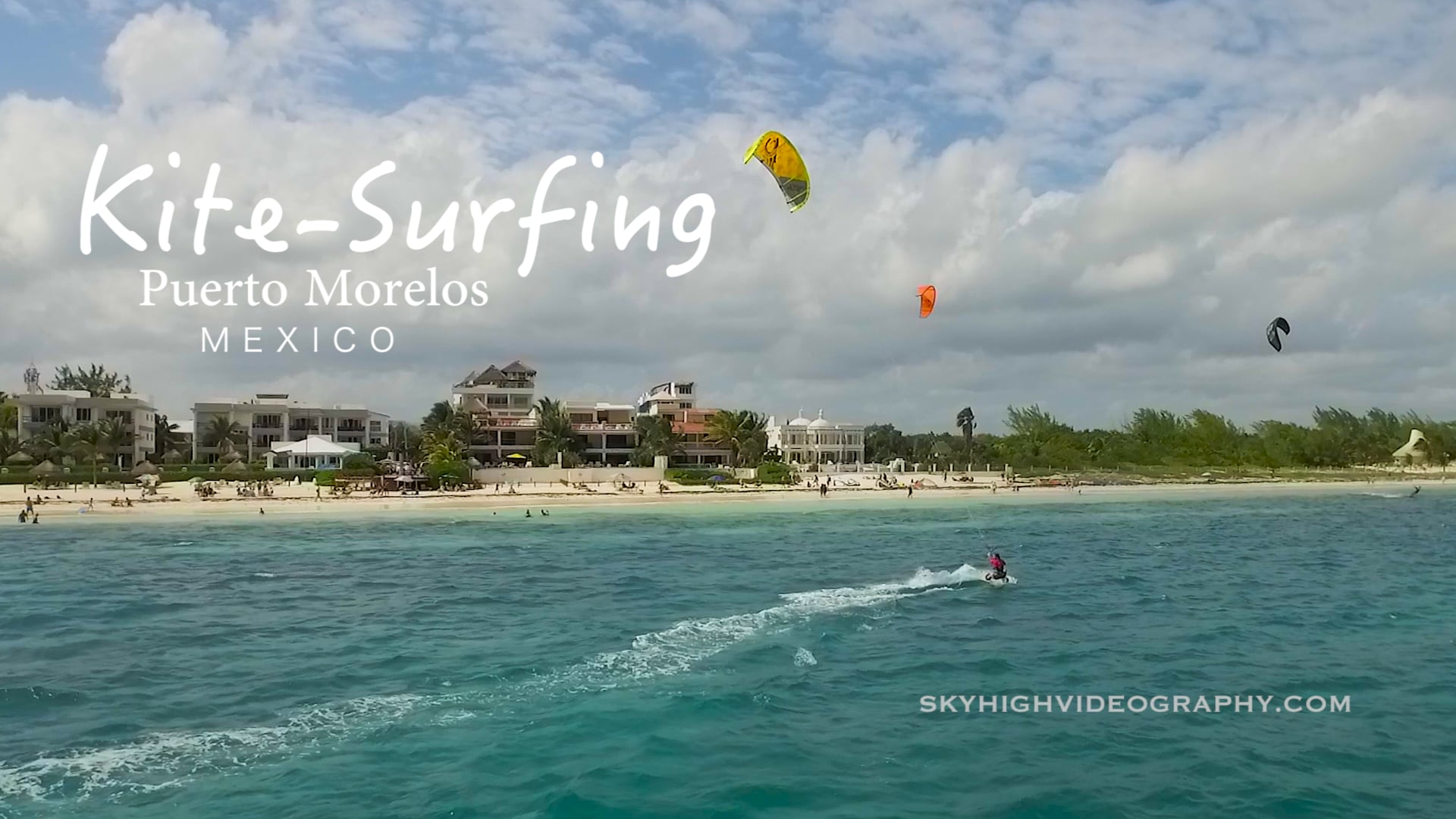 Kite-Surfing in Puerto Morelos Mexico